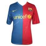 ICONS Dual-signed Iniesta & Messi 2009 Barcelona Soccer Jersey
