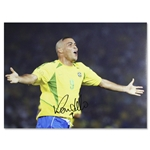 Icons Ronaldo Signed Brazil World Cup 2002 Photo
