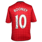 Icons Wayne Rooney Signed Manchester United 12/13 Soccer Jersey