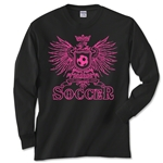 Girls Eagle Soccer Long Sleeve T-Shirt (Black)