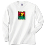 Soccer Style Long Sleeve T-Shirt (White)