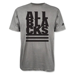 All Blacks Stacked Supporter T-Shirt (Gray)