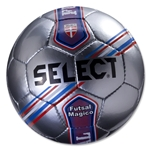 Select Futsal Magico Junior Ball (Silver/Stripe)