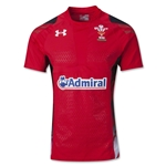 Wales 13/15 Home Authentic Rugby Jersey (Red)
