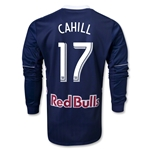 New York Red Bulls 2013 CAHILL Authentic LS Secondary Soccer Jersey