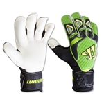 Warrior Gambler Pro Bone System Goalkeeper Glove (Black/Green/Yellow)