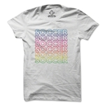 Women's Stacked Soccer T-Shirt (White)