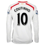 Liverpool 13/14 COUTINHO LS Away Soccer Jersey