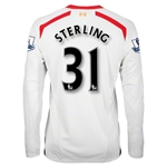 Liverpool 13/14 STERLING LS Away Soccer Jersey