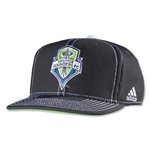 Seattle Sounders Flat Brim Snap Back Cap