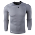 Under Armour Heatgear Sonic Compression Long Sleeve T-Shirt (Gray)