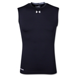 UA Heatgear Sonic Compression Sleeveless T-Shirt (Black)