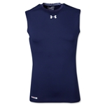 UA Heatgear Sonic Compression Sleeveless T-Shirt (Navy)