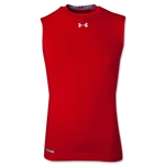 Under Armour Heatgear Sonic Compression Sleeveless T-Shirt (Red)