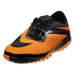 Nike Junior Hypervenom Phelon TF (Black/Black/Dark Citrus)