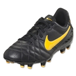 Nike Tiempo Natural IV Leather FG Junior (Dark Charcoal/Laser Orange/Black)