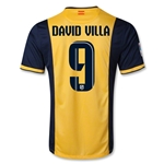Atletico Madrid 13/14 DAVID VILLA Away Soccer Jersey