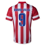 Atletico Madrid 13/14 DAVID VILLA Home Soccer Jersey