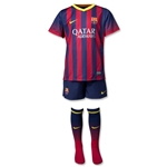 Barcelona 13/14 Boys Home Soccer Kit