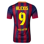 Barcelona 13/14 ALEXIS Jersey de Futbol Local Autentico