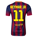 Barcelona 13/14 NEYMAR JR Jersey de Futbol Local Autentico