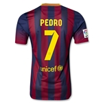 Barcelona 13/14 PEDRO Authentic Home Soccer Jersey