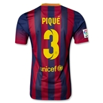 Barcelona 13/14 PIQUE Authentic Home Soccer Jersey