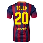 Barcelona 13/14 TELLO Authentic Home Soccer Jersey