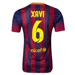 Barcelona 13/14 XAVI Jersey de Futbol Local Autentico