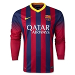 Barcelona 13/14 Jersey de Futbol Local ML
