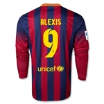 Barcelona 13/14 ALEXIS Jersey de Futbol Local ML