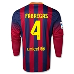 Barcelona 13/14 FABREGAS Jersey de Futbol Local ML