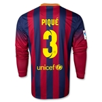 Barcelona 13/14 PIQUE Jersey de Futbol Local ML