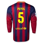 Barcelona 13/14 PUYOL Jersey de Futbol Local ML