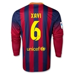 Barcelona 13/14 XAVI Jersey de Futbol Local ML