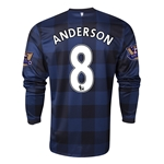 Manchester United 13/14 ANDERSON LS Away Soccer Jersey