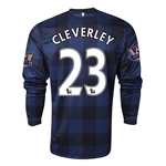 Manchester United 13/14 CLEVERLEY LS Away Soccer Jersey