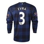 Manchester United 13/14 EVRA LS Away Soccer Jersey