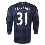 Manchester United 13/14 FELLAINI LS Away Soccer Jersey