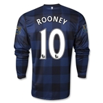 Manchester United 13/14 ROONEY LS Away Soccer Jersey
