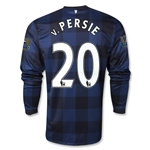 Manchester United 13/14 v. PERSIE LS Away Soccer Jersey