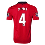 Manchester United 13/14 JONES Home Soccer Jersey