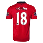 Manchester United 13/14 YOUNG Home Soccer Jersey