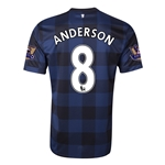 Manchester United 13/14 ANDERSON Away Soccer Jersey