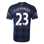 Manchester United 13/14 CLEVERLEY Away Soccer Jersey