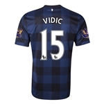 Manchester United 13/14 VIDIC Away Soccer Jersey