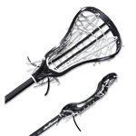 deBeer NV3 Full Stick Gripper Pocket Lacrosse Stick (Black)