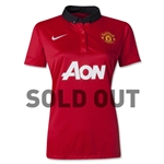 Manchester United 13/14 Women's Home Soccer Jersey [SOLD OUT]