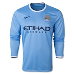 Manchester City 13/14 Jersey de Futbol Local ML
