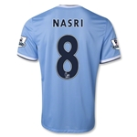 Manchester City 13/14 NASRI Home Soccer Jersey